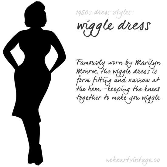 Vintage Silhouettes: Iconic 1950s Dress Styles Wiggle Dress