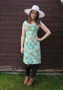 1960s Bouquet Linen Dress