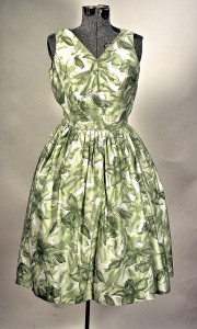 1950 Flower Cotton Dress