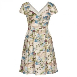 Limb Victory Parade Dress Polly Pleat Cream New Oriental